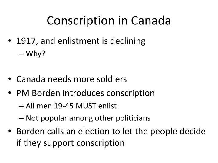 Conscription in Canada