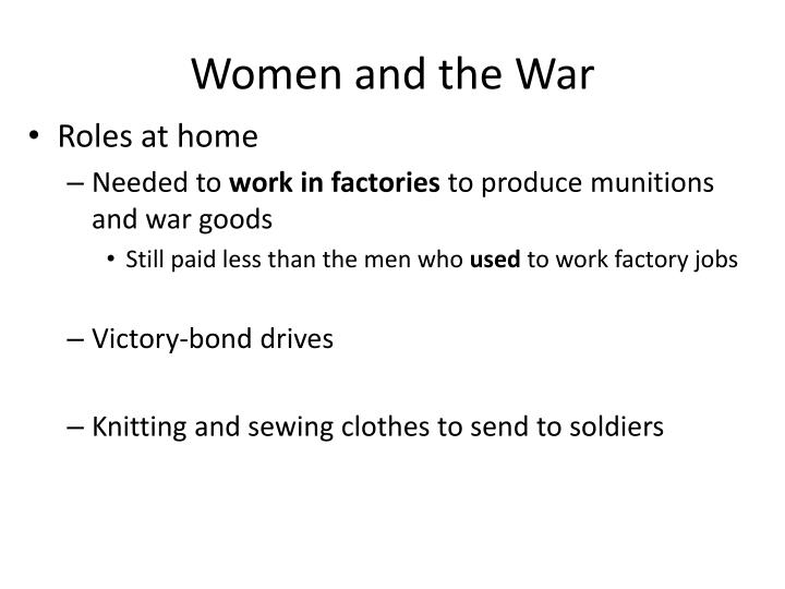 Women and the war