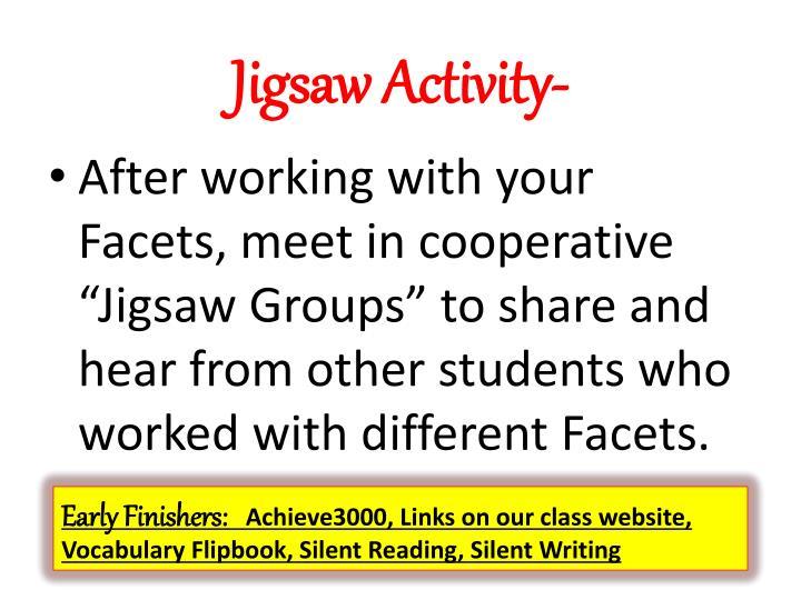 Jigsaw Activity-