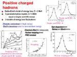 positive charged hadrons