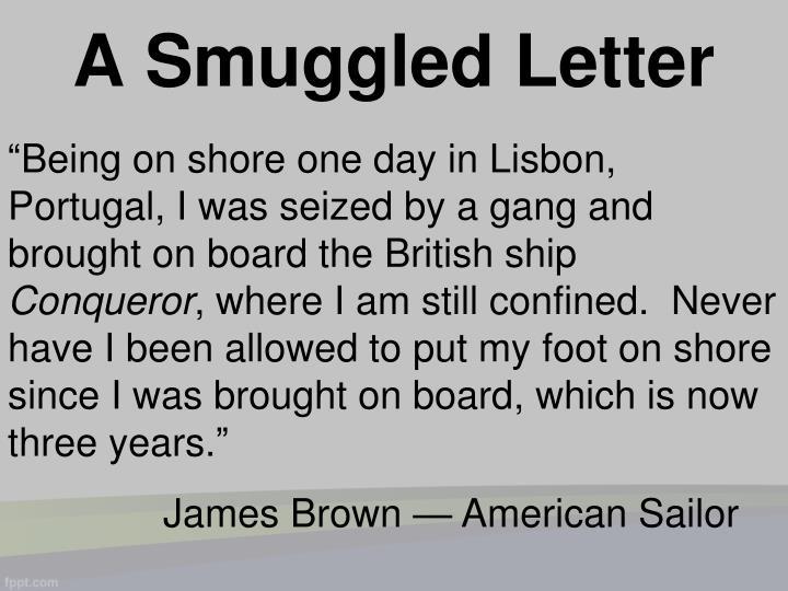 A Smuggled Letter