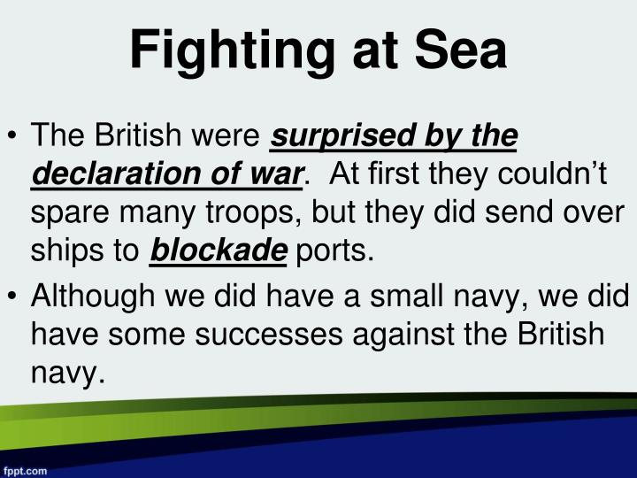 Fighting at Sea