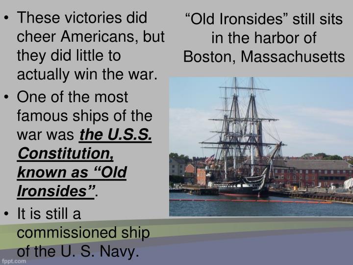 """Old Ironsides"" still sits in the harbor of Boston, Massachusetts"