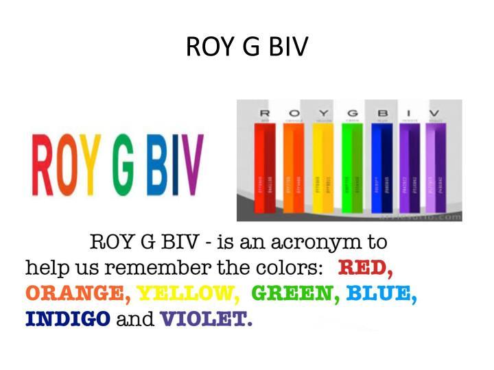 ROY G BIV