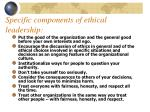 specific components of ethical leadership