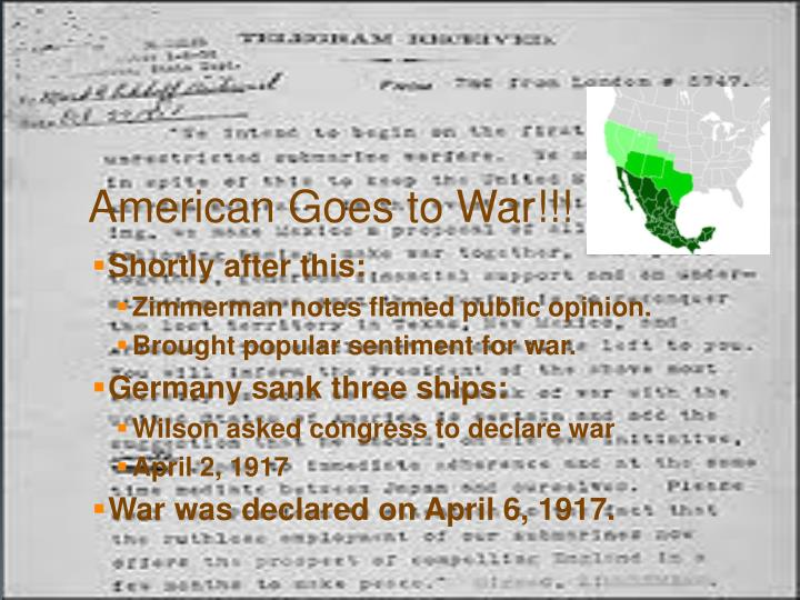 American Goes to War!!!
