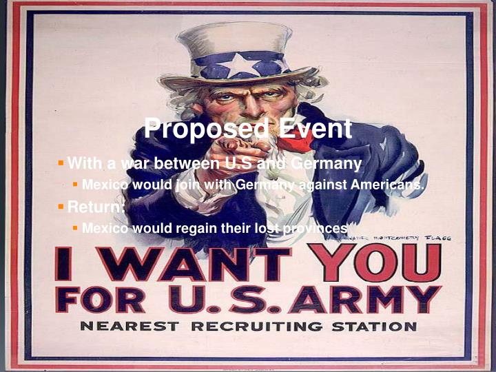 Proposed Event