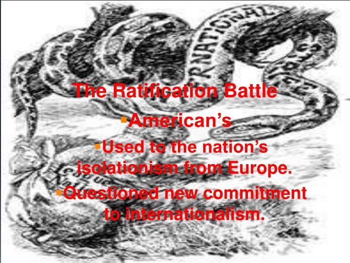 The Ratification Battle