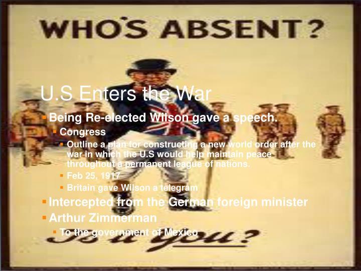U.S Enters the War