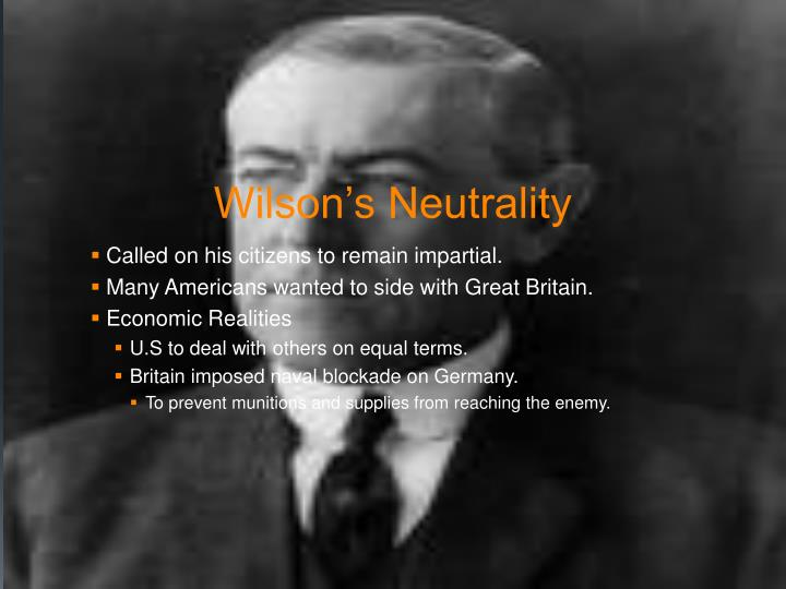 Wilson's Neutrality
