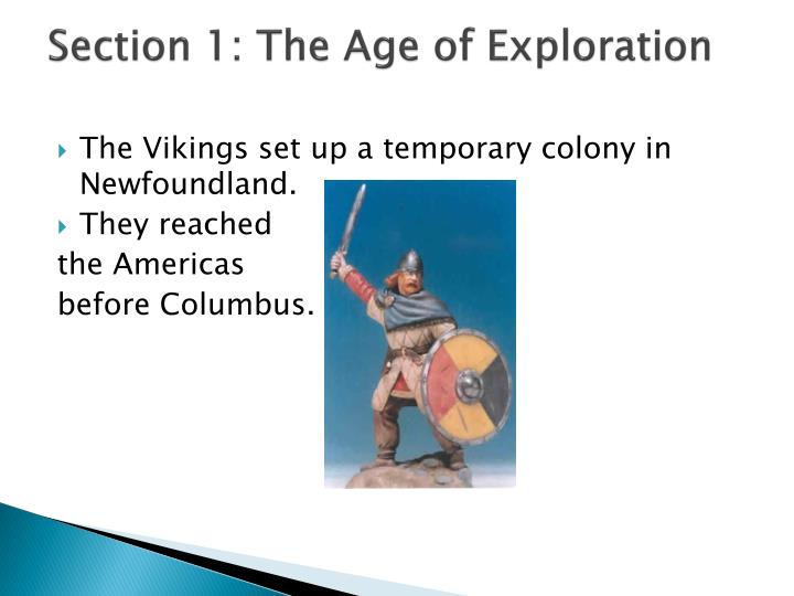 Section 1: The Age of Exploration