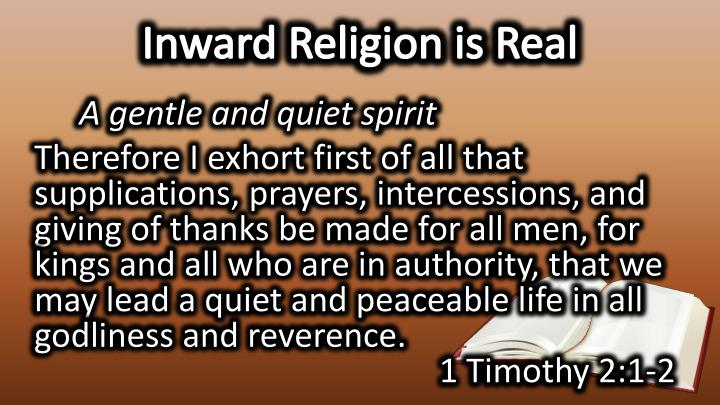 Inward Religion is Real