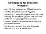 ank ndigung der deutschen wirtschaft