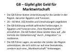 g8 gipfel gibt geld f r marktwirtschaft