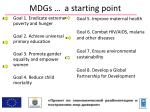 mdgs a starting point