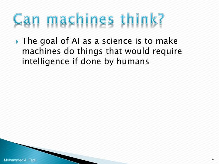 Can machines think?
