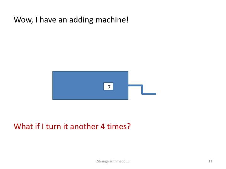Wow, I have an adding machine!
