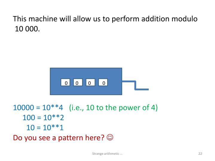 This machine will allow us to perform addition modulo
