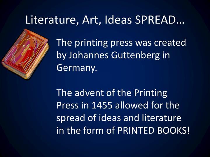 Literature, Art, Ideas SPREAD…