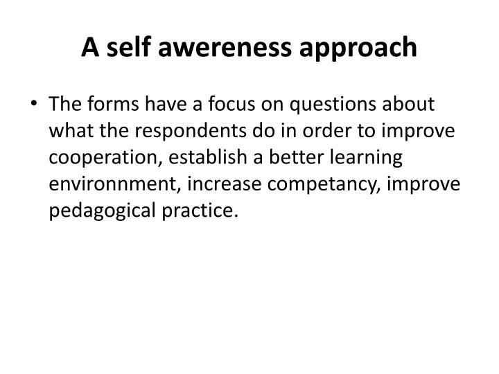 A self awereness approach