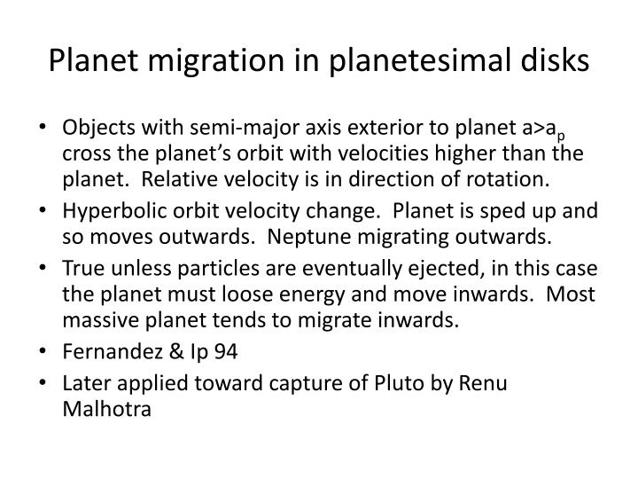 Planet migration in planetesimal disks