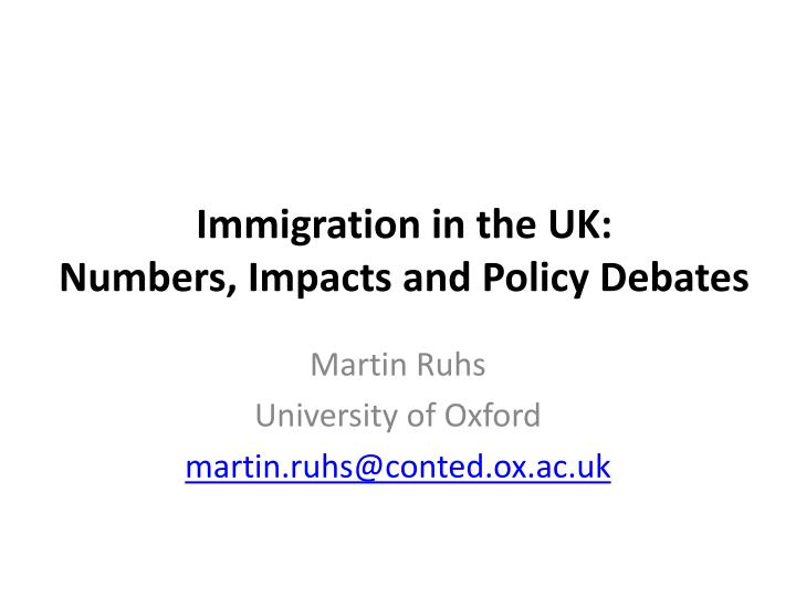 immigration in the uk numbers impacts and policy debates n.