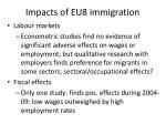impacts of eu8 immigration