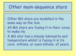 other main sequence stars