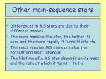 other main sequence stars1