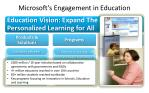microsoft s engagement in education