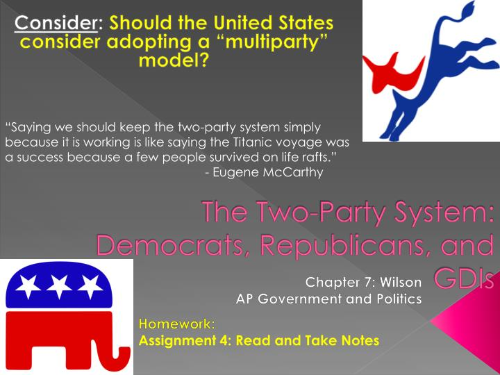 the two party system democrats republicans and gdis n.