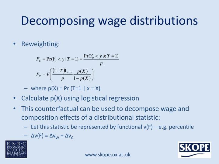 Decomposing wage distributions