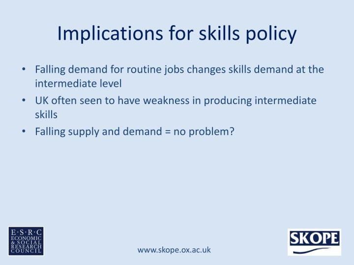 Implications for skills policy