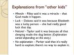 explanations from other kids