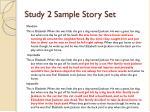 study 2 sample story set
