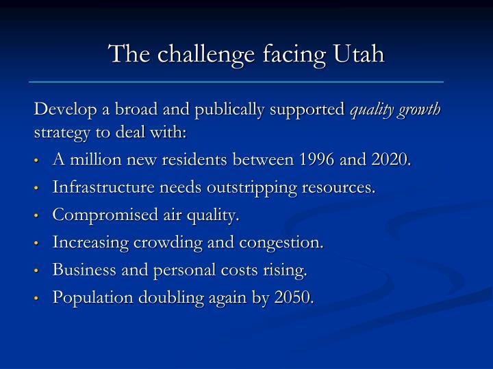 The challenge facing Utah