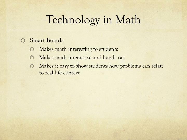 Technology in Math