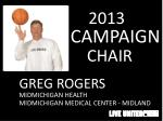 2013 campaign chair
