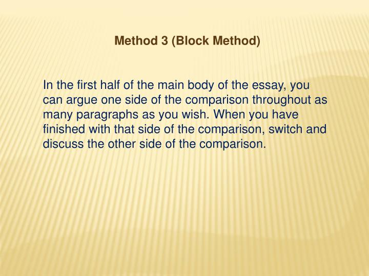 Method 3 (Block Method)