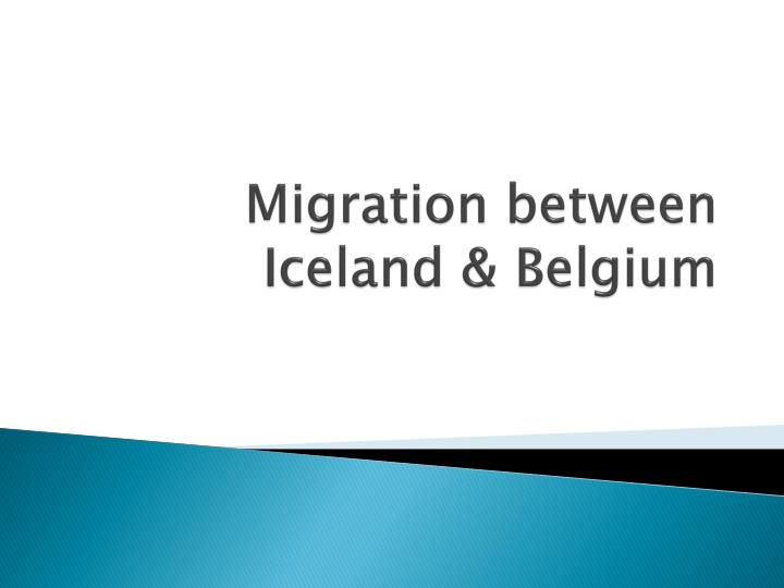 migration between iceland belgium n.