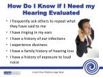 how do i know if i need my hearing evaluated1