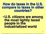 how do taxes in the u s compare to taxes in other countries