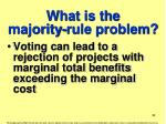 what is the majority rule problem