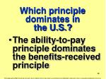 which principle dominates in the u s