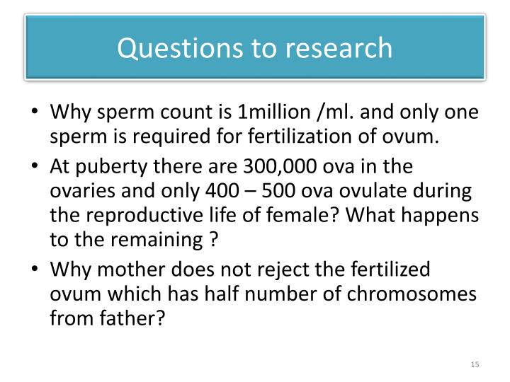 Questions to research