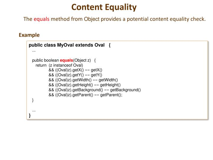 Content Equality