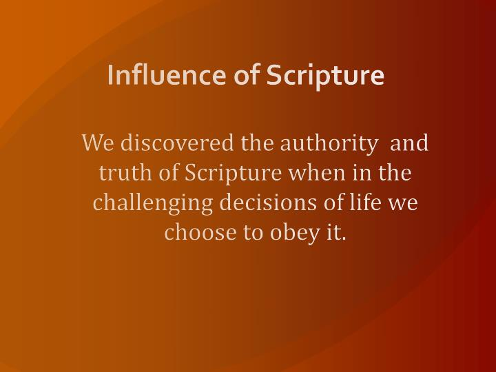Influence of Scripture