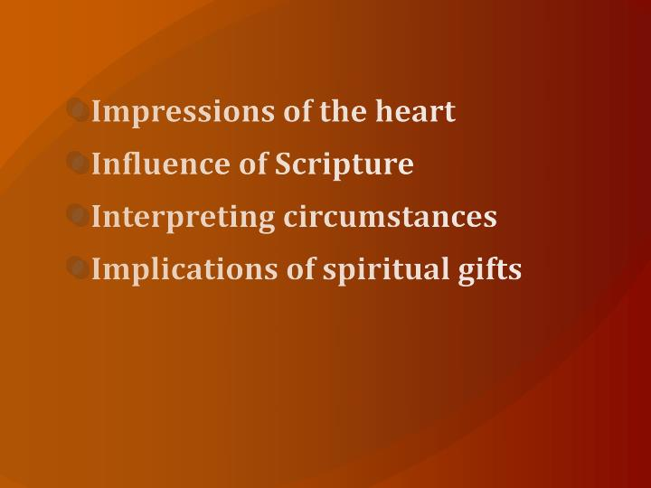 Impressions of the heart
