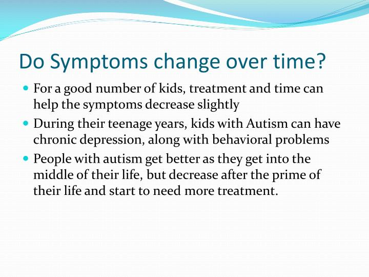 Do Symptoms change over time?