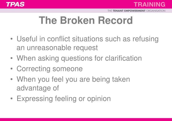 The Broken Record
